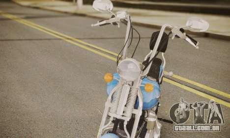 Harley-Davidson FXSTS Springer Softail para GTA San Andreas traseira esquerda vista