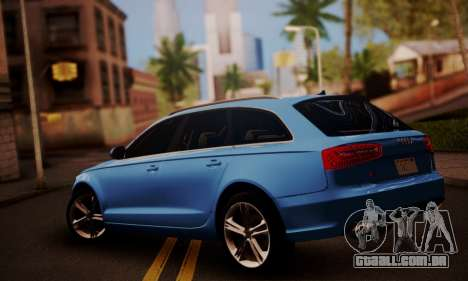 Audi S6 Avant 2014 para GTA San Andreas esquerda vista
