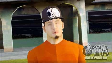 Polera Naranja con Gorro para GTA San Andreas terceira tela