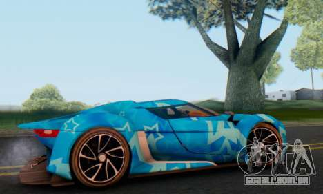 Citroen GT Blue Star para GTA San Andreas traseira esquerda vista