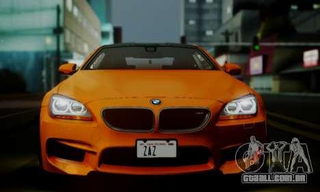 BMW M6 F13 2013 para GTA San Andreas interior
