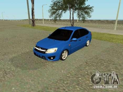 Lada Granta Liftback para GTA San Andreas esquerda vista