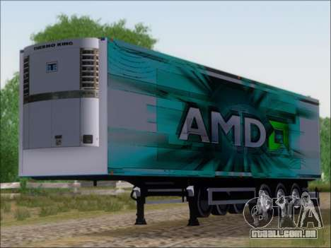 Trailer AMD Athlon 64 X2 para GTA San Andreas esquerda vista