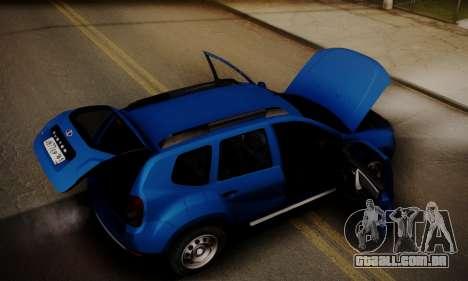 Lada Duster para GTA San Andreas vista inferior