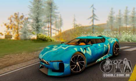 Citroen GT Blue Star para GTA San Andreas vista traseira