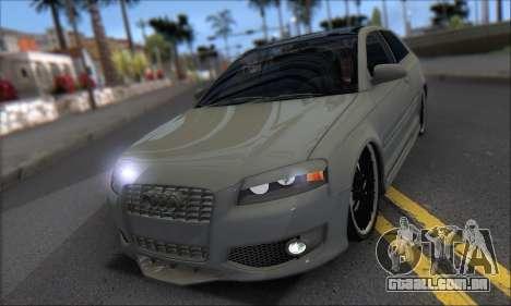 Audi S3 2006 Custom para GTA San Andreas vista interior