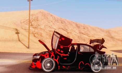 Mitsubishi Lancer EVO X Abstraction para GTA San Andreas vista traseira