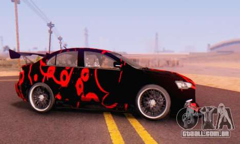 Mitsubishi Lancer EVO X Abstraction para GTA San Andreas esquerda vista