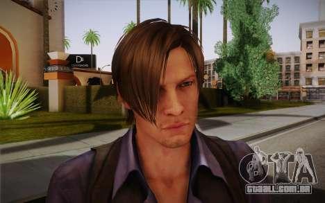 Leon Kennedy from Resident Evil 6 para GTA San Andreas terceira tela