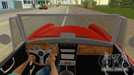 Austin-Healey 3000 Mk III para GTA Vice City vista traseira esquerda