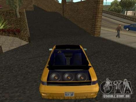 Alpha HD Cabrio para GTA San Andreas traseira esquerda vista