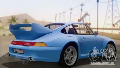Porsche 911 GT2 (993) 1995 V1.0 SA Plate para GTA San Andreas esquerda vista