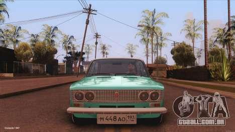 VAZ 2103 Havana para GTA San Andreas traseira esquerda vista