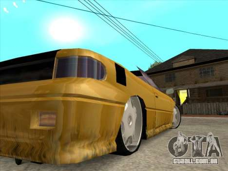 Alpha HD Cabrio para vista lateral GTA San Andreas