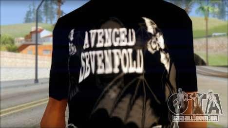 A7X Deathbats Fan T-Shirt Black para GTA San Andreas terceira tela
