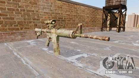 Automático de carabina, MAS Guerrilha Camo para GTA 4