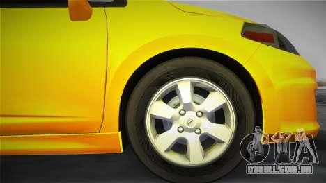 Nissan Versa para GTA Vice City vista traseira esquerda
