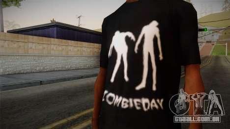 Zombie Polo Shirt para GTA San Andreas terceira tela