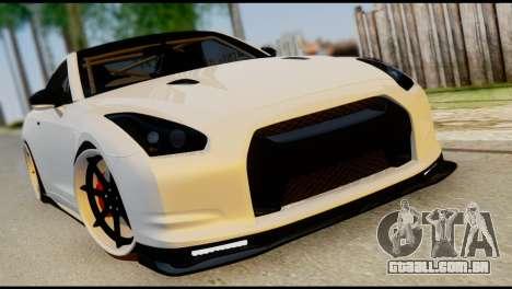 Nissan GT-R V2.0 para GTA San Andreas vista inferior