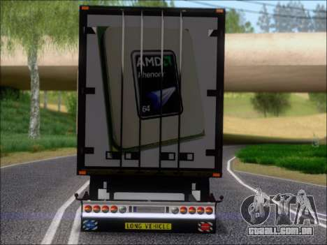 Trailer AMD Phenom X4 para GTA San Andreas interior