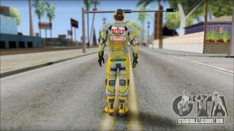 Piers Amarillo Gorra para GTA San Andreas segunda tela