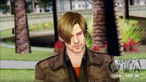 Leon Kennedy from Resident Evil 6 v4 para GTA San Andreas terceira tela