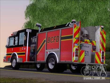 Pierce Arrow XT 2009 BCFD para GTA San Andreas interior