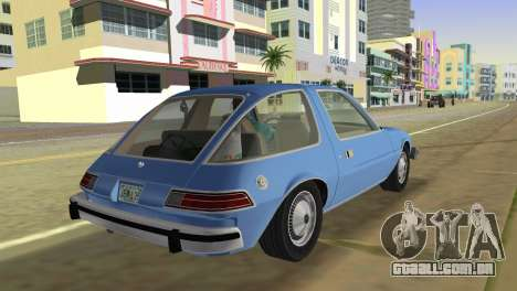 AMC Pacer DL 1978 para GTA Vice City deixou vista