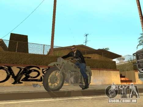 Ural M72 para GTA San Andreas vista traseira