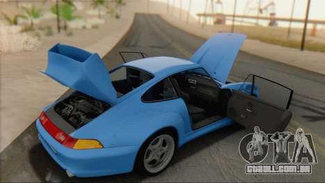 Porsche 911 GT2 (993) 1995 V1.0 SA Plate para GTA San Andreas vista traseira