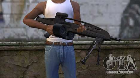 XM8 LMG Black para GTA San Andreas terceira tela