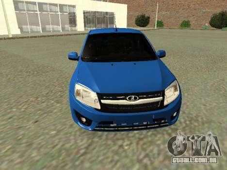 Lada Granta Liftback para GTA San Andreas vista superior
