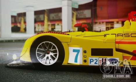 Porsche RS Spyder Evo 2008 para GTA San Andreas vista superior
