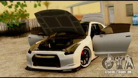 Nissan GT-R V2.0 para GTA San Andreas vista traseira
