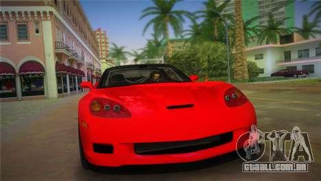 Chevrolet Corvette 2010 para GTA Vice City