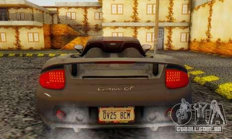 Porsche Carrera GT 2005 para GTA San Andreas vista direita