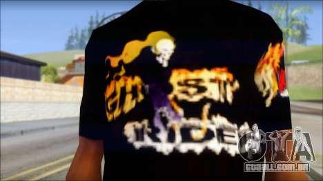 Ghost Rider T-Shirt para GTA San Andreas terceira tela