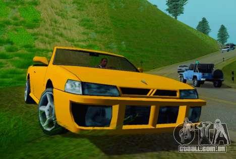 Sultan Сabriolet v2.0 para GTA San Andreas esquerda vista