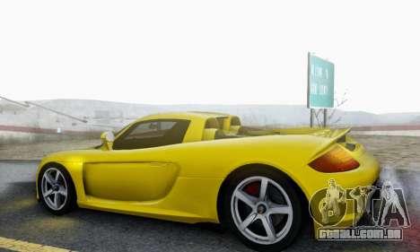Porsche Carrera GT 2005 para GTA San Andreas vista superior