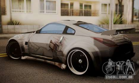 Nissan 350z Angel Beast Itasha Edition para GTA San Andreas esquerda vista