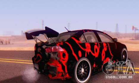 Mitsubishi Lancer EVO X Abstraction para GTA San Andreas traseira esquerda vista