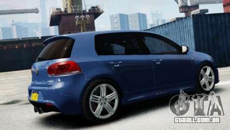 Volkswagen Golf R 2010 para GTA 4 esquerda vista