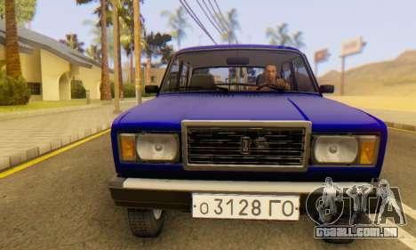 VAZ 2107 Estoque para GTA San Andreas vista inferior