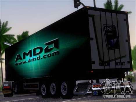 Trailer AMD Phenom X4 para GTA San Andreas traseira esquerda vista
