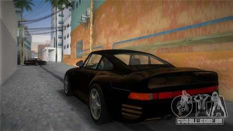 Porsche 959 1986 para GTA Vice City deixou vista