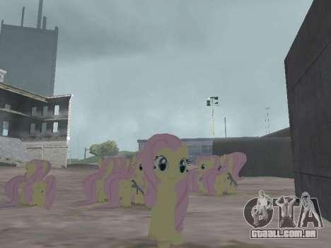 Fluttershy para GTA San Andreas terceira tela