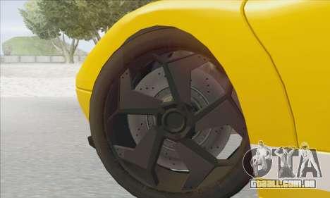 Pegassi Infernus para GTA San Andreas vista traseira