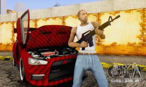Abstract M16 para GTA San Andreas por diante tela