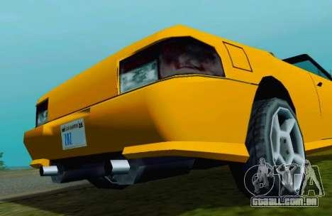Sultan Сabriolet v2.0 para GTA San Andreas vista direita