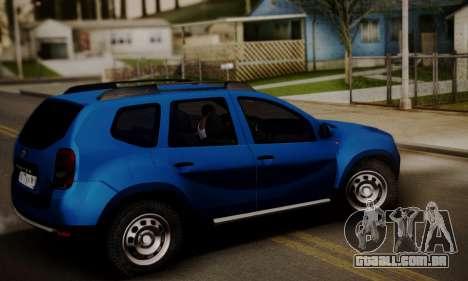 Lada Duster para GTA San Andreas traseira esquerda vista
